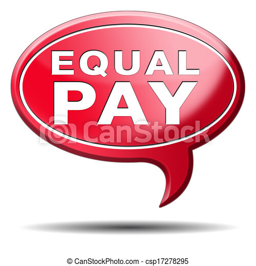 Equal Pay Equal Rights For Man And Woman On Work Marked Fair Payment