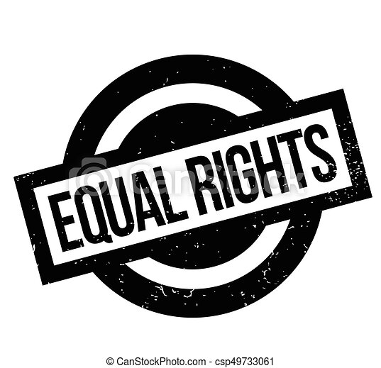 Equal Rights rubber stamp - csp49733061
