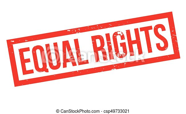 Equal Rights rubber stamp - csp49733021