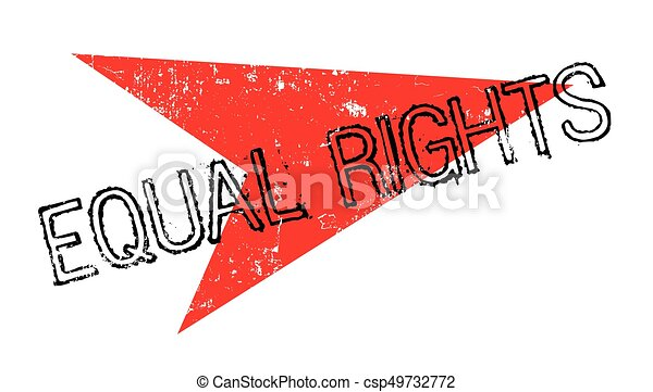 Equal Rights rubber stamp - csp49732772