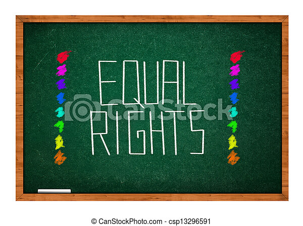 Equal rights - csp13296591