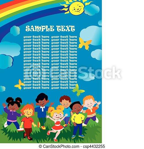 Amistad e igualdad. - csp4432255