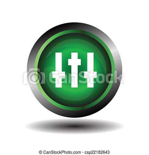Equalizer green circle icon vector - csp22182643