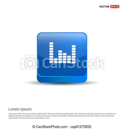 Equalizer icon - 3d Blue Button - csp61270832