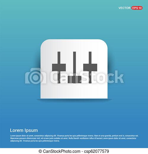 Equalizer icon - Blue Sticker button - csp62077579