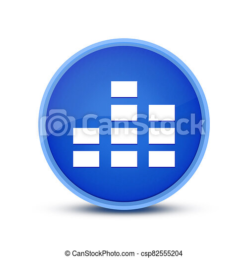 Equalizer  icon isolated on glassy blue round button abstract - csp82555204