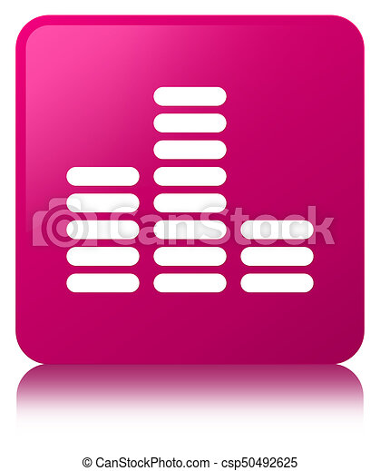 Equalizer icon pink square button - csp50492625