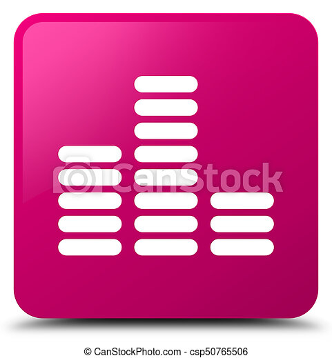Equalizer icon pink square button - csp50765506