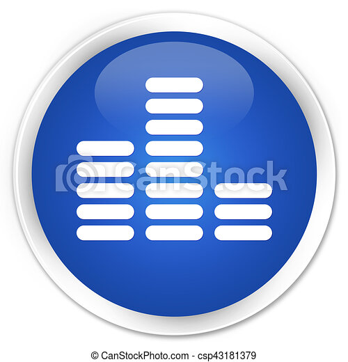 Equalizer icon premium blue round button - csp43181379