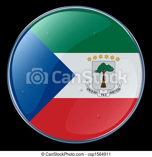 Equatorial Guinea Flag Button - csp1564911