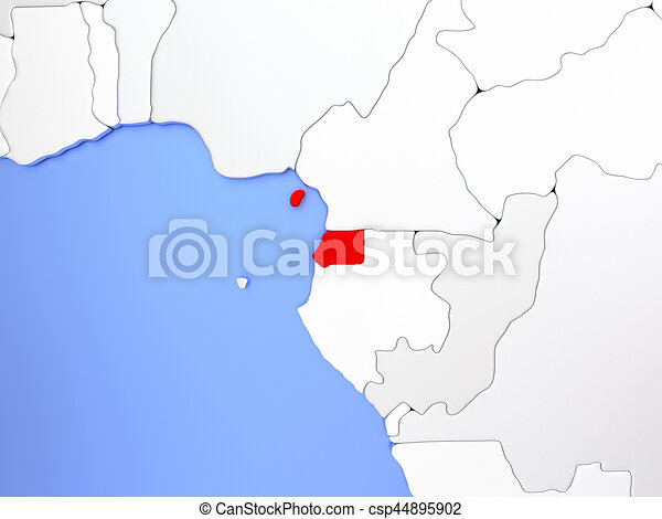 Equatorial Guinea in red on map on equatorial guinea africa, ghana world map, cape verde world map, equatorial guinea on map south america, malabo map, equator location on map, heremakono on the location of guinea africa map, tunisia world map,