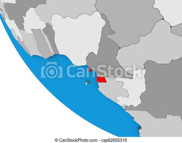 Equatorial Guinea on 3D globe - csp62655318