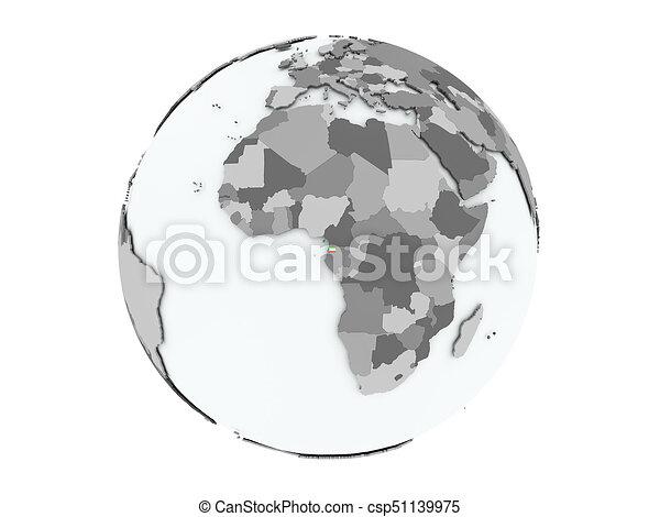 Equatorial Guinea on globe isolated - csp51139975
