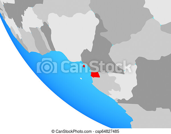Equatorial Guinea on globe - csp64827485