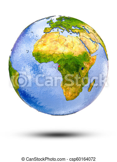 Equatorial Guinea on globe - csp60164072