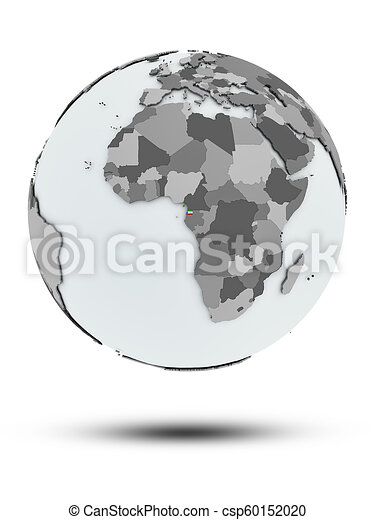 Equatorial Guinea on political globe isolated - csp60152020