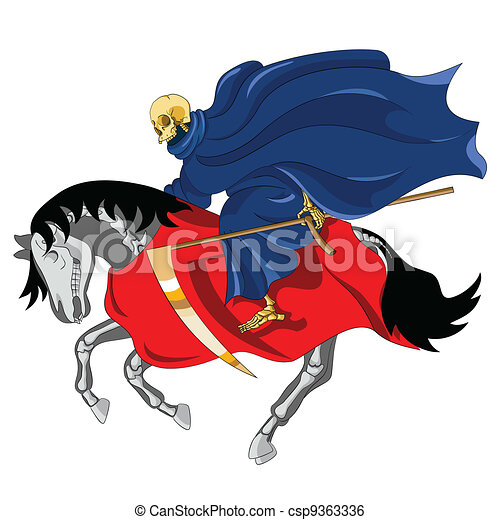 Equestrian of the Apocalypse. Death - csp9363336