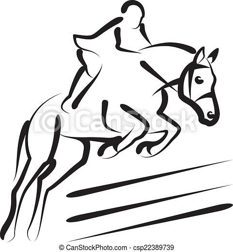 equestrian sport - csp22389739