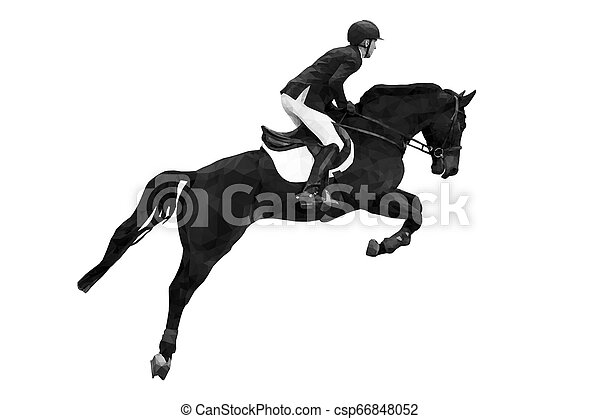 equestrian sport rider - csp66848052