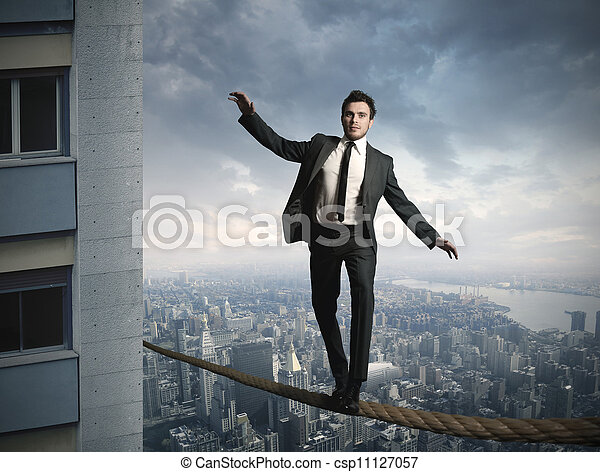 Equilibrist businessma - csp11127057