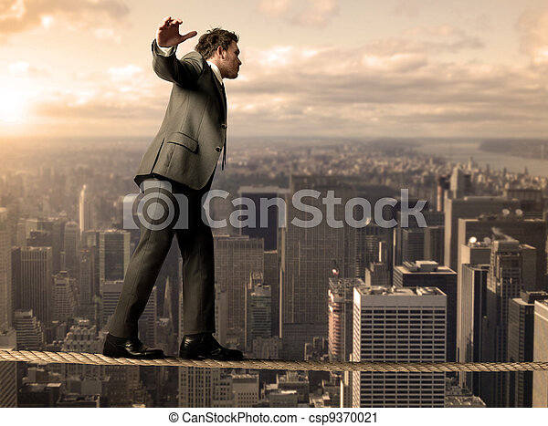 Equilibrist businessman - csp9370021