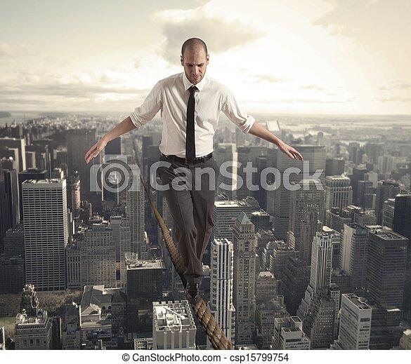 Equilibrist businessman - csp15799754