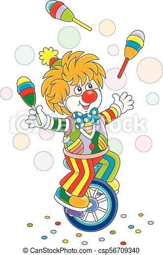Equilibrist Rigolote Clown Jongleur Style Sien Skittles