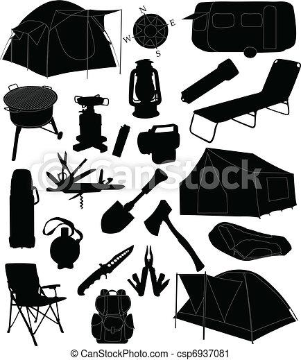 equipamento, acampamento - csp6937081