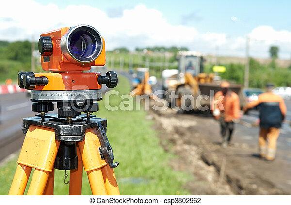 equipamento, agrimensor, theodolite, nível - csp3802962