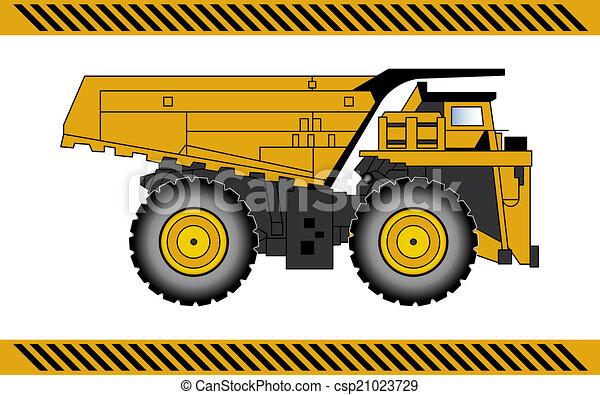equipamento, construção, caminhão, maquinaria, entulho - csp21023729