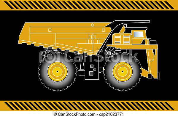 equipamento, construção, caminhão, maquinaria, entulho - csp21023771