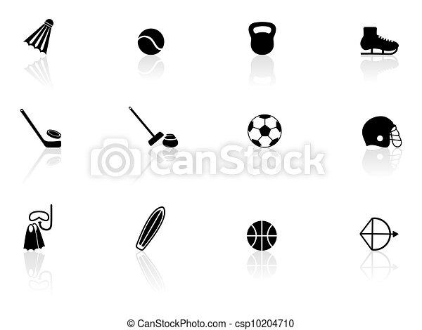 equipamento, desporto, ícones - csp10204710