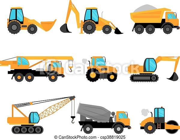 equipamento edifício, maquinaria construção - csp38819025