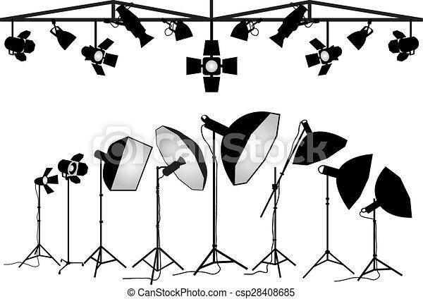 equipamento, fotografia, vetorial - csp28408685