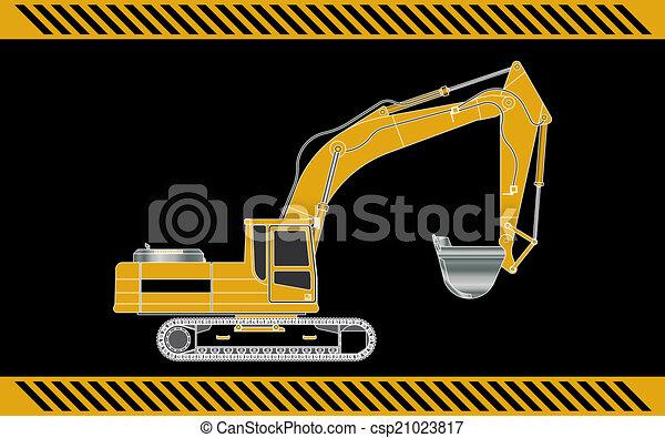 equipamento, maquinaria construção, escavador - csp21023817