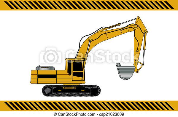 equipamento, maquinaria construção, escavador - csp21023809