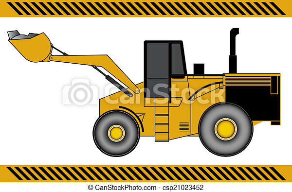 equipamento, maquinaria construção, escavador, carregador - csp21023452