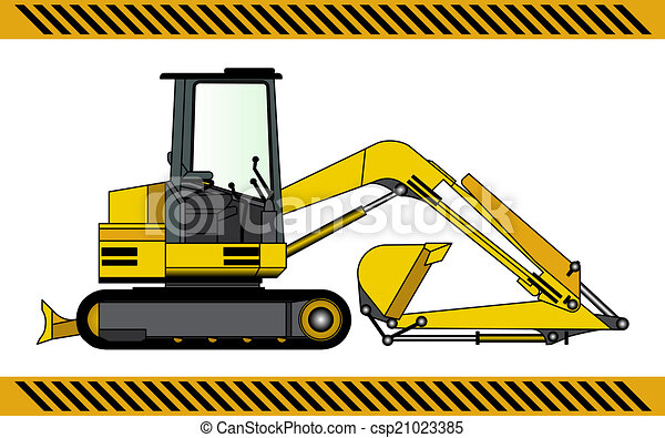 equipamento, maquinaria construção, escavador - csp21023385