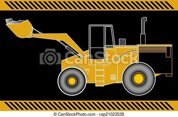 equipamento, maquinaria construção, escavador, carregador - csp21023538
