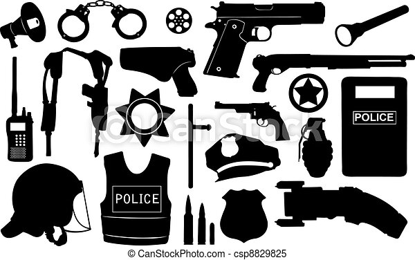 equipamento, polícia - csp8829825