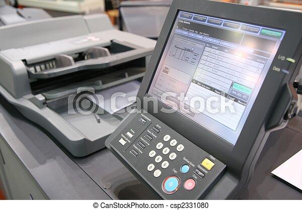 equipamento, tela, impresso - csp2331080