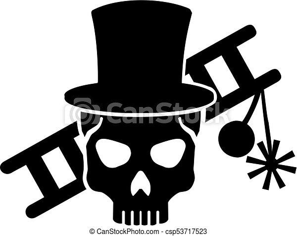 equipamento, varredor, chaminé, escada, cranio - csp53717523