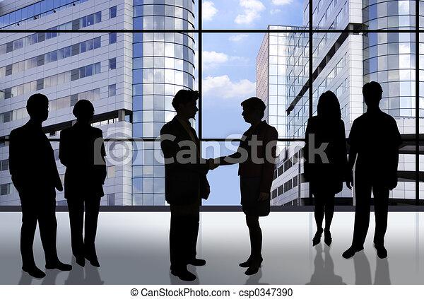 equipe affaires - csp0347390