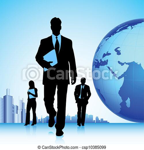 equipe affaires - csp10385099
