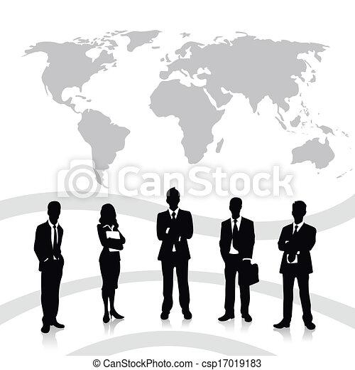 equipe affaires - csp17019183