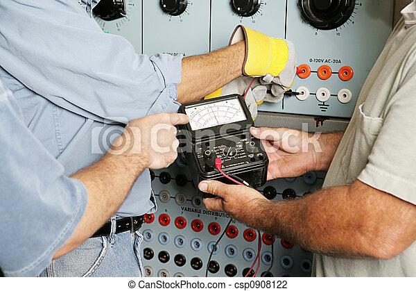 equipe, voltagem, testar, elétrico - csp0908122