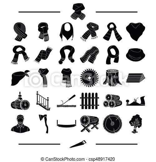 equipment, textiles, clothing and other web icon in black style. Tool, building, material, icons in set collection. - csp48917420