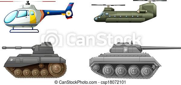 equipments, transporte, campo batalha - csp18072101