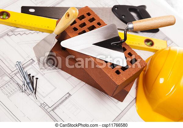 equipo de edificio, construcción - csp11766580