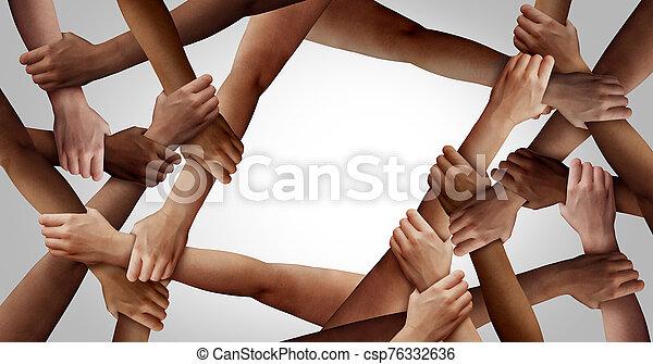 equipo, diversidad, empresa / negocio - csp76332636